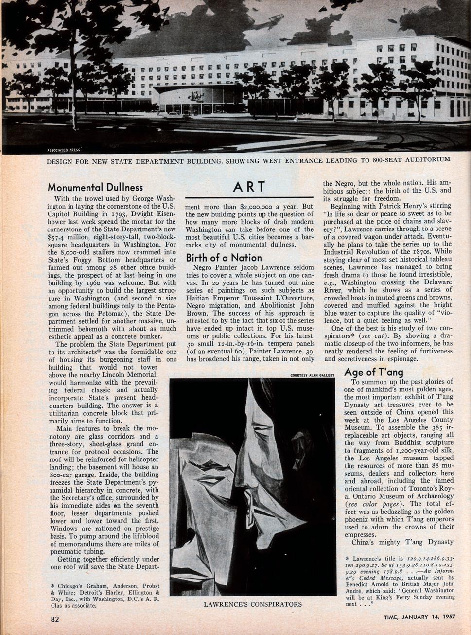 jacob lawrence - time mag. jan. 1957