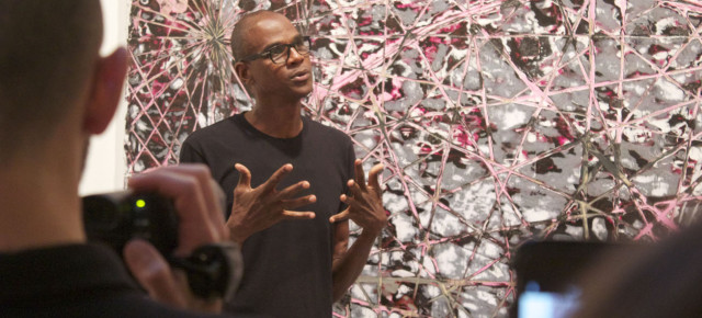 With 'Be Strong Boquan,' Mark Bradford Pushes His Painting Practice and Flexes His Comedy Chops