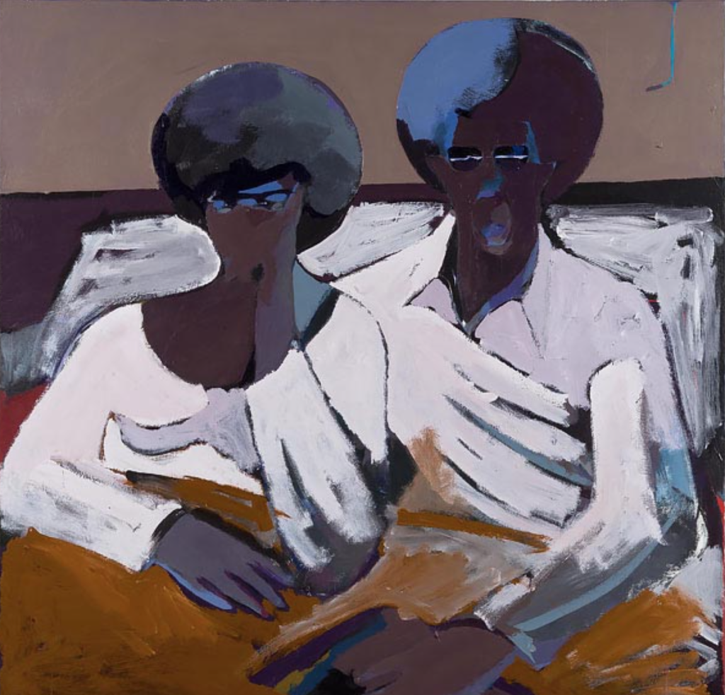 Dimitri Wright - Black Couple in Bed Looking at TV 1971