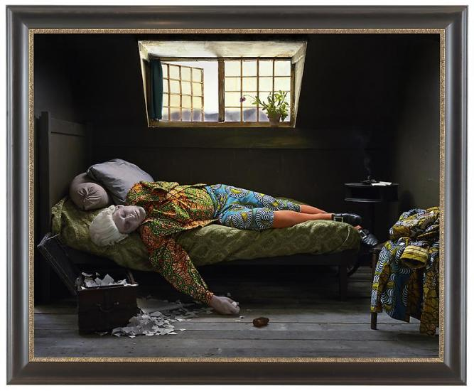 yinka-shonibare-mbe-fake-death-picture-the-death-of-chatterton-henry-wallis-2011-113156537shonibarembe_jcg54807