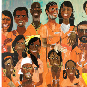 Backstory: Nina Chanel Abney Revisits Her First Major Painting, 'Class of 2007'
